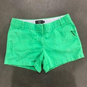 J Crew green chino shorts size 8